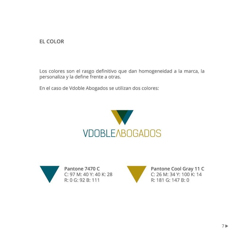 Manual de identidad corporativa :: Vdoble Abogados 6