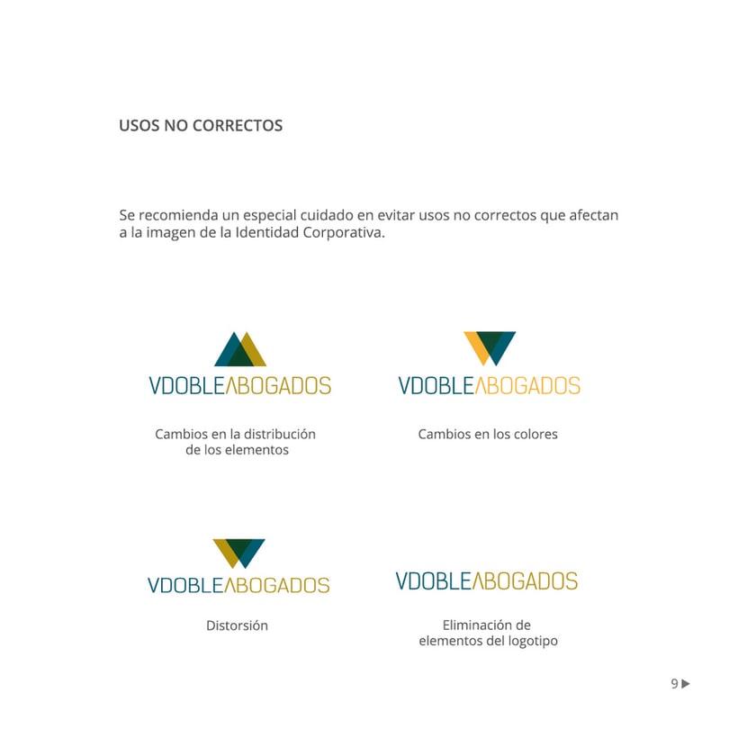 Manual de identidad corporativa :: Vdoble Abogados 8
