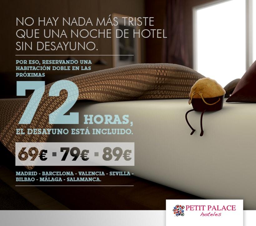 Petit Palace Hoteles - Creatividad Campaña Mailing #1: Desayuno Gratis. 2
