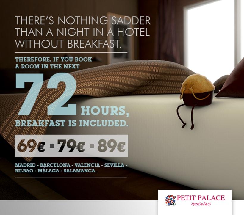 Petit Palace Hoteles - Creatividad Campaña Mailing #1: Desayuno Gratis. 3