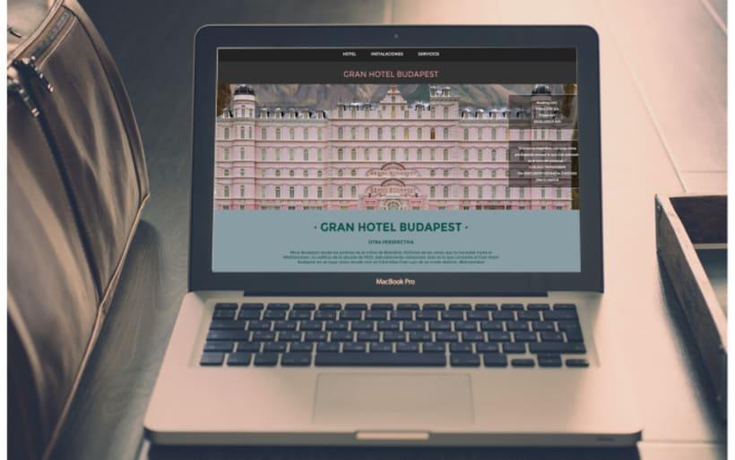 Web Tributo a Gran Hotel Budapest 0