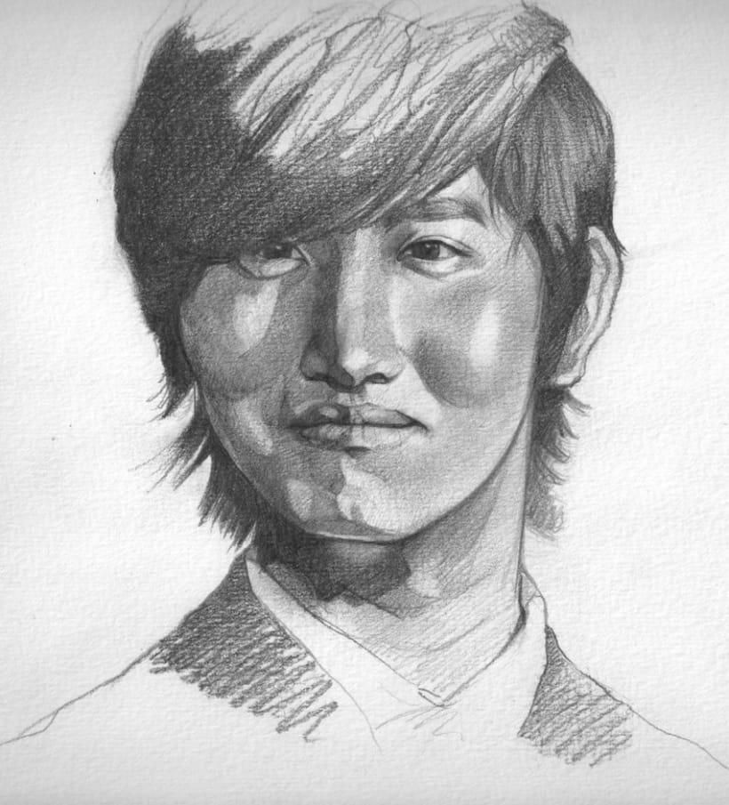 Graphite portraits / Retratos a grafito 3