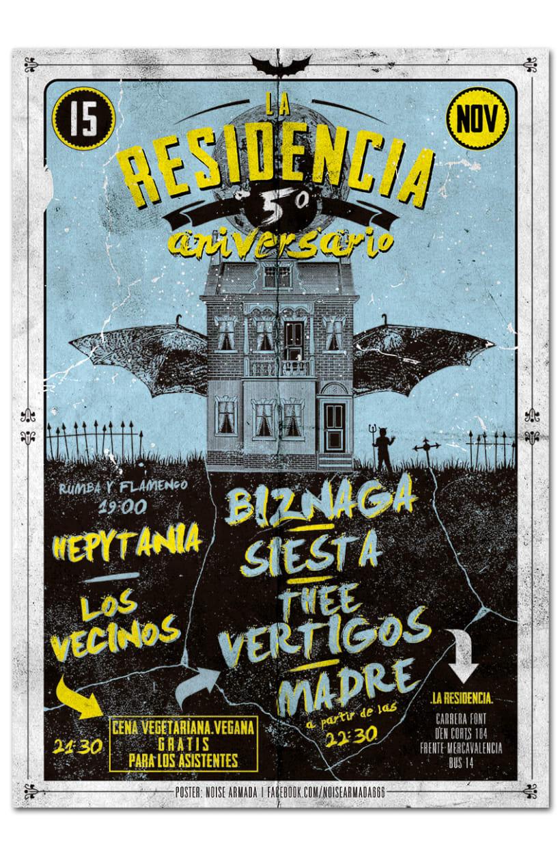 5º ANIVERSARIO LA RESIDENCIA | poster 0