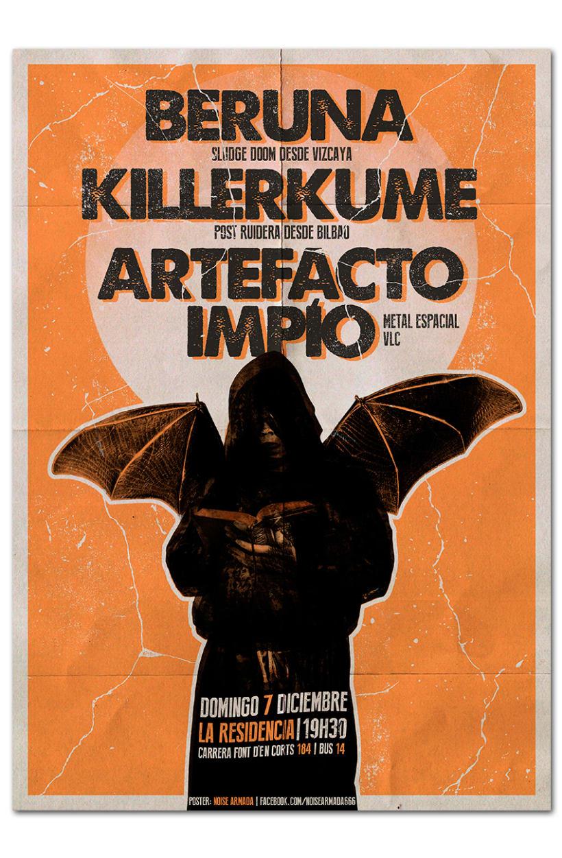 BERUNA + KILLERKUME + ARTEFACTO IMPÍO | poster 0