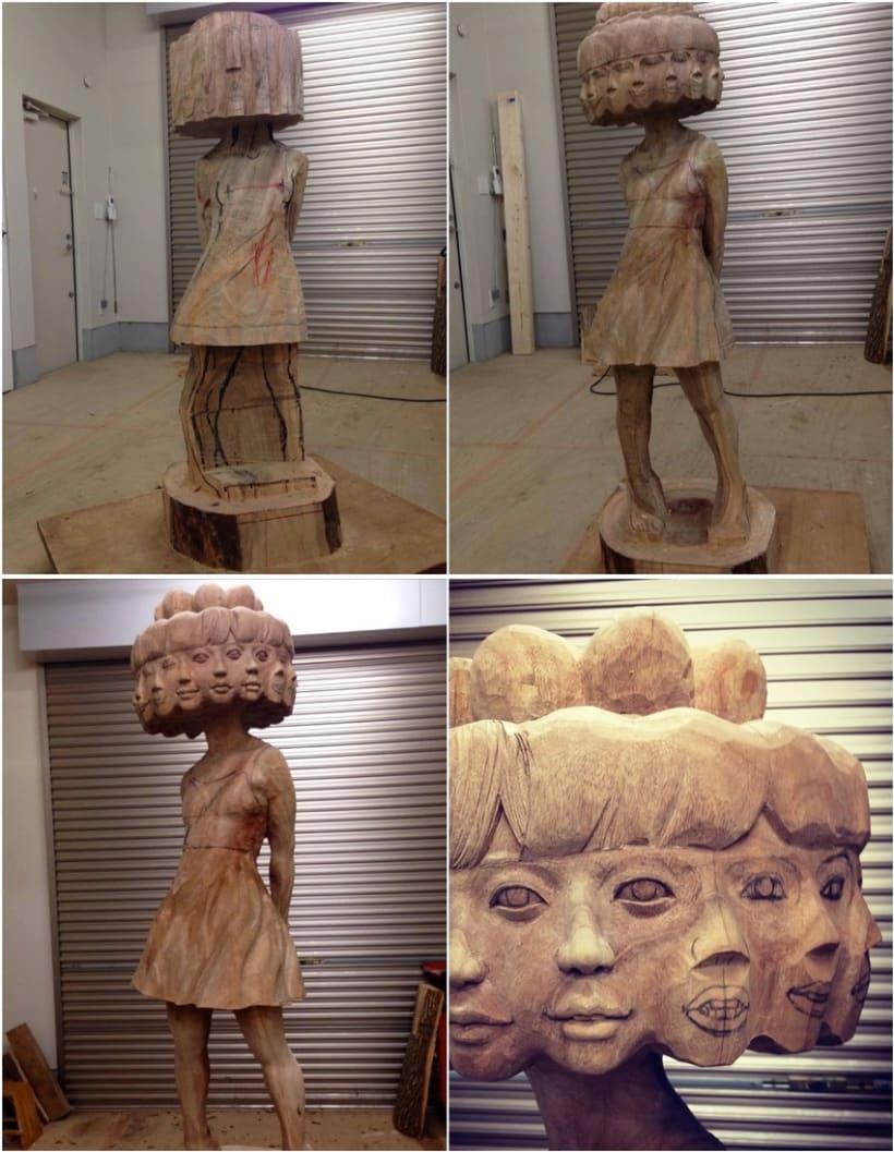 Paso a paso de una escultura del japonés Yoshitoshi Kanemaki 2