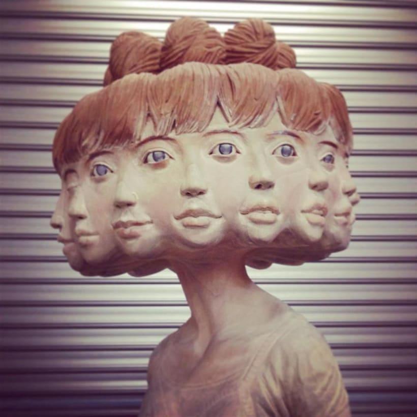 Paso a paso de una escultura del japonés Yoshitoshi Kanemaki 3