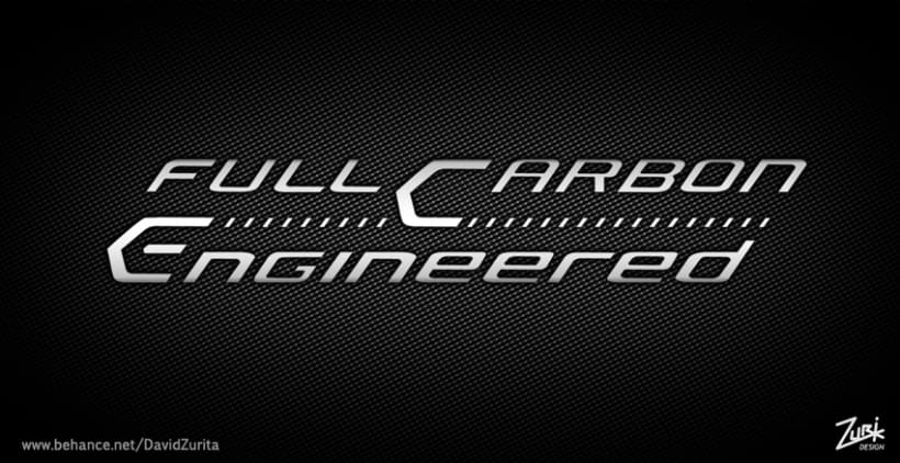 Logo/ serigrafia para bicicleta: Full Carbon Engineered. 0