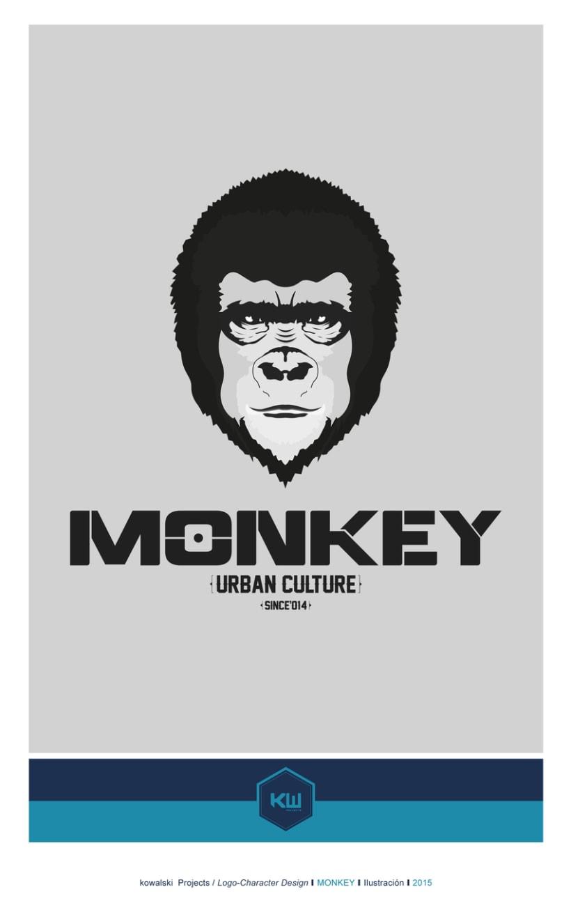 Kowalski Projects/Logo-Character Design / MONKEY.. -1
