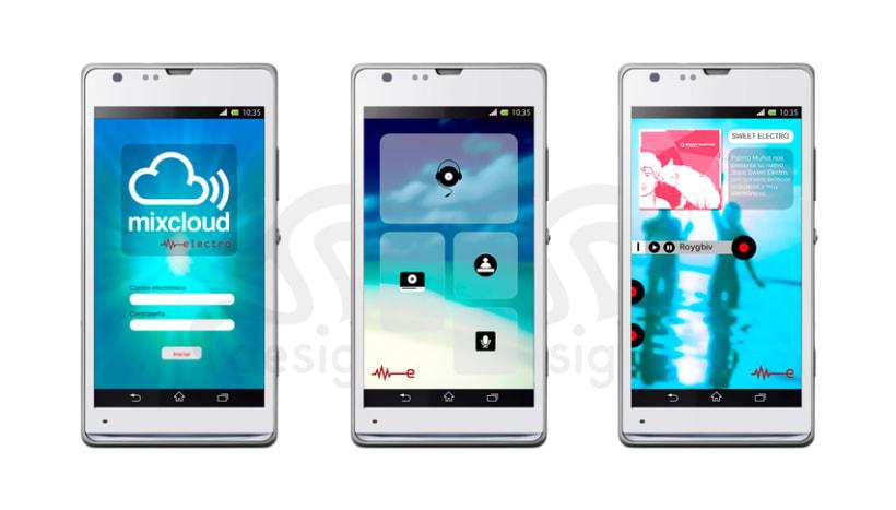 Mixcloud Electro. Diseño de APP para dispositivos móviles 2