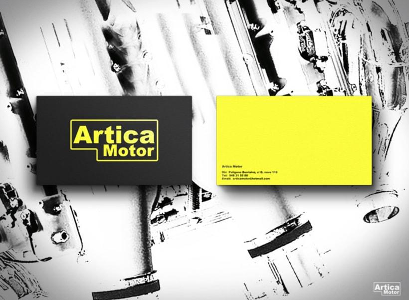 Branding Artica Motor 1