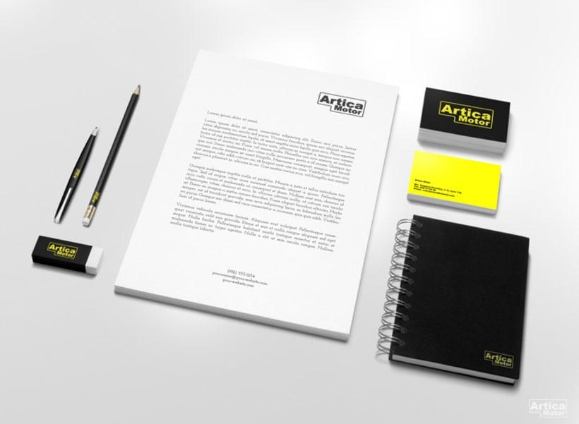 Branding Artica Motor 2