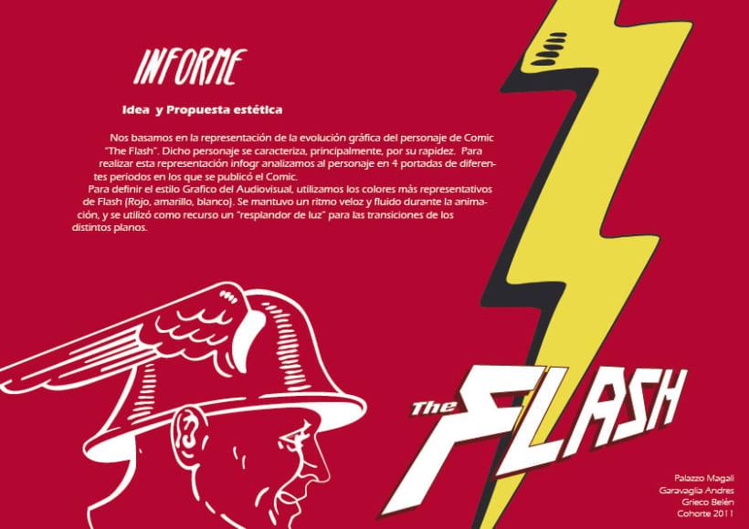 """infografía animada del superheroe """"FLASH"""" 0"""