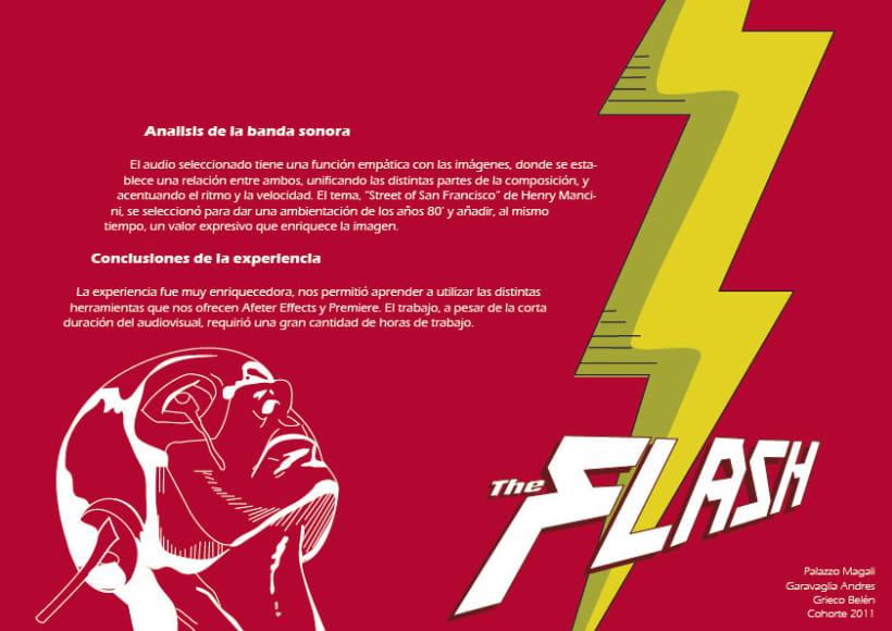"""infografía animada del superheroe """"FLASH"""" 1"""