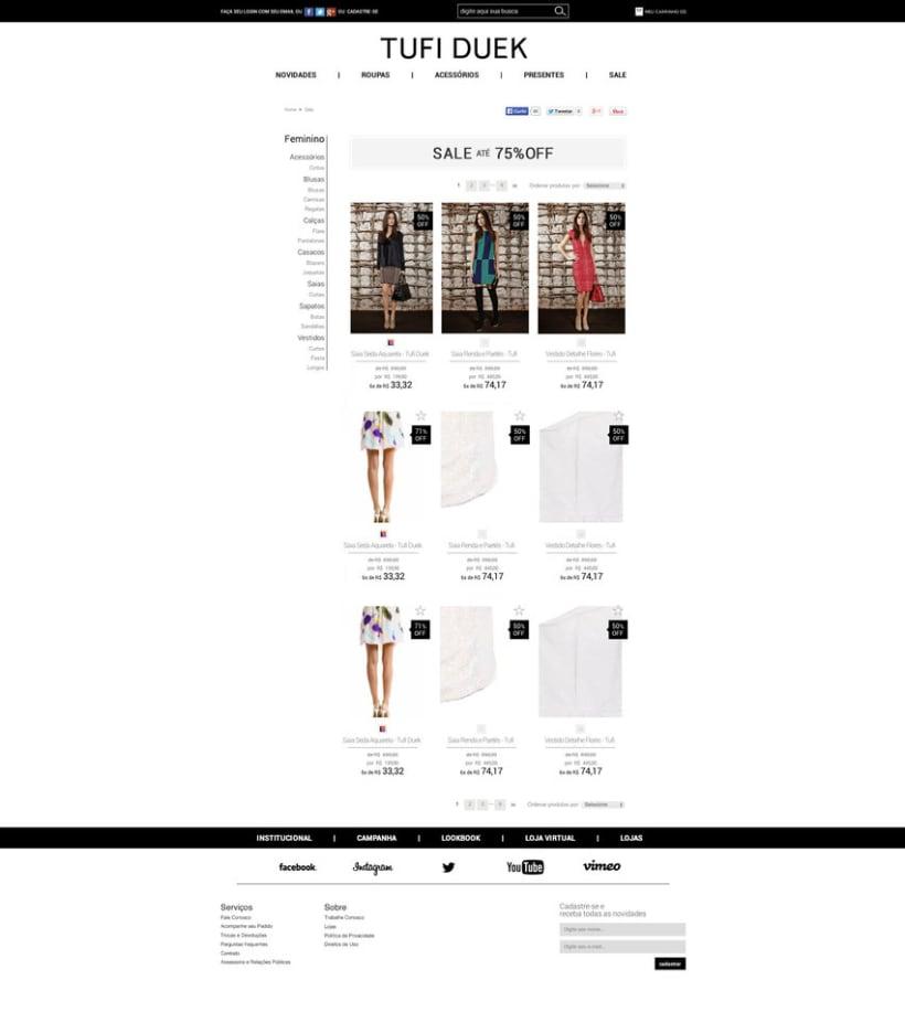 Web Tufi Duek Brasil - Tienda online 2014 2