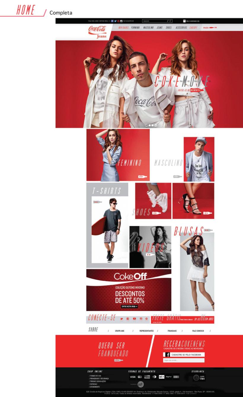 Web Coca-Cola Jeans Brasil - Tienda online 2015 1