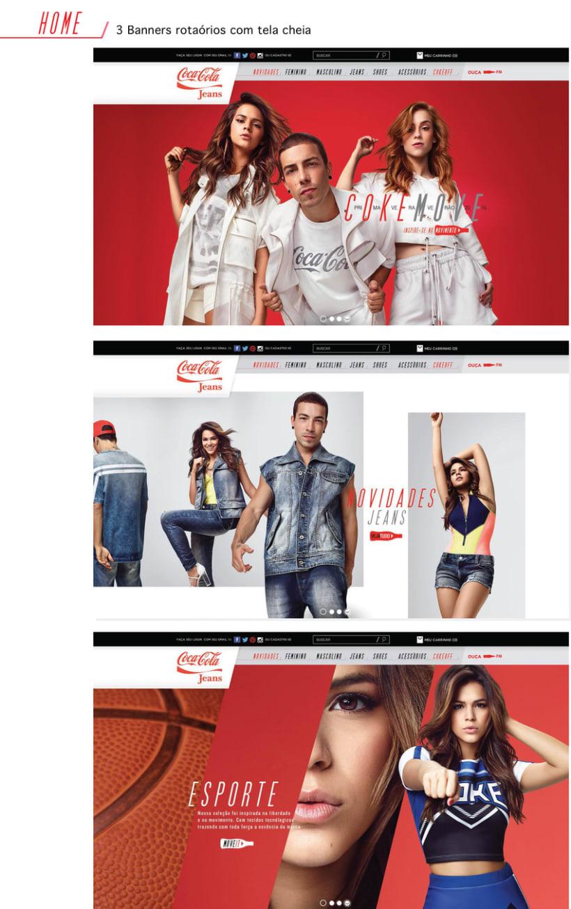 Web Coca-Cola Jeans Brasil - Tienda online 2015 0