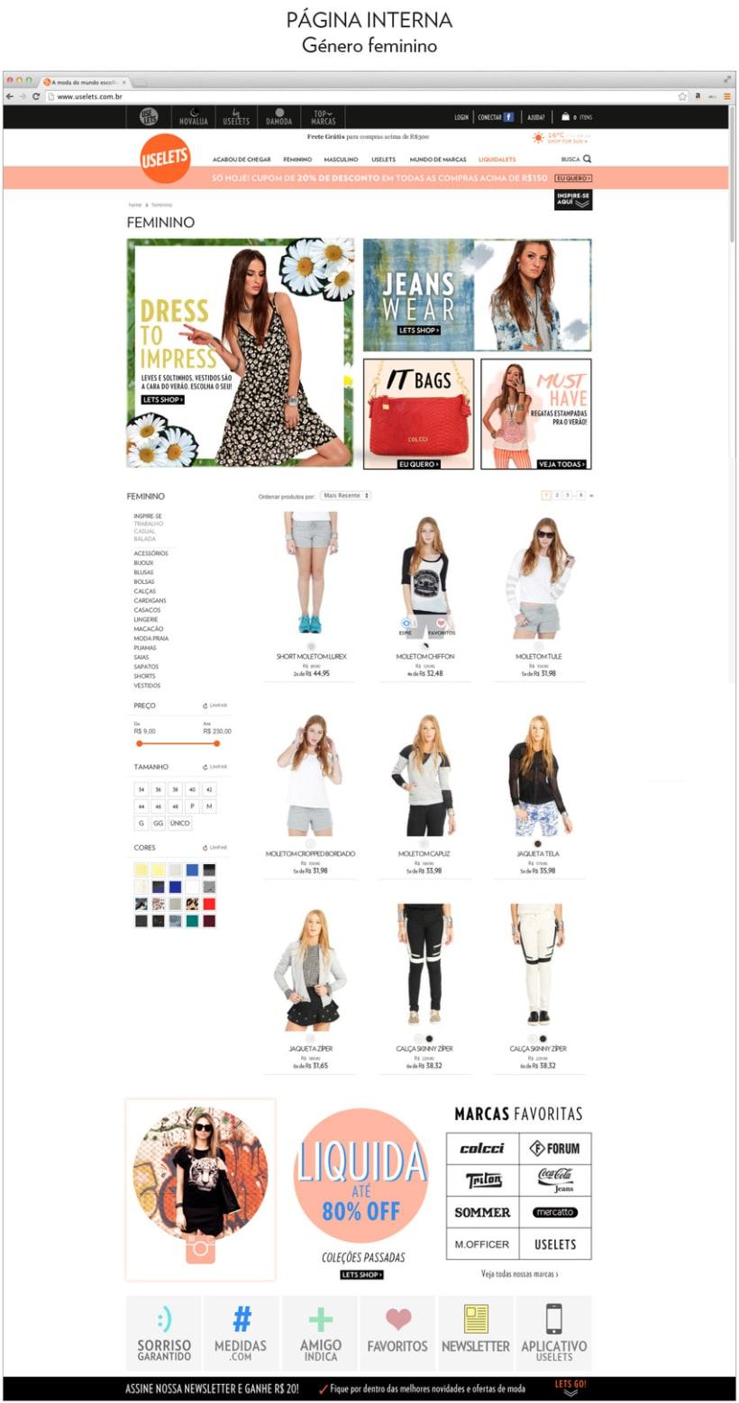 Web Multimarca Uselets Brasil - Tienda online 2015 3