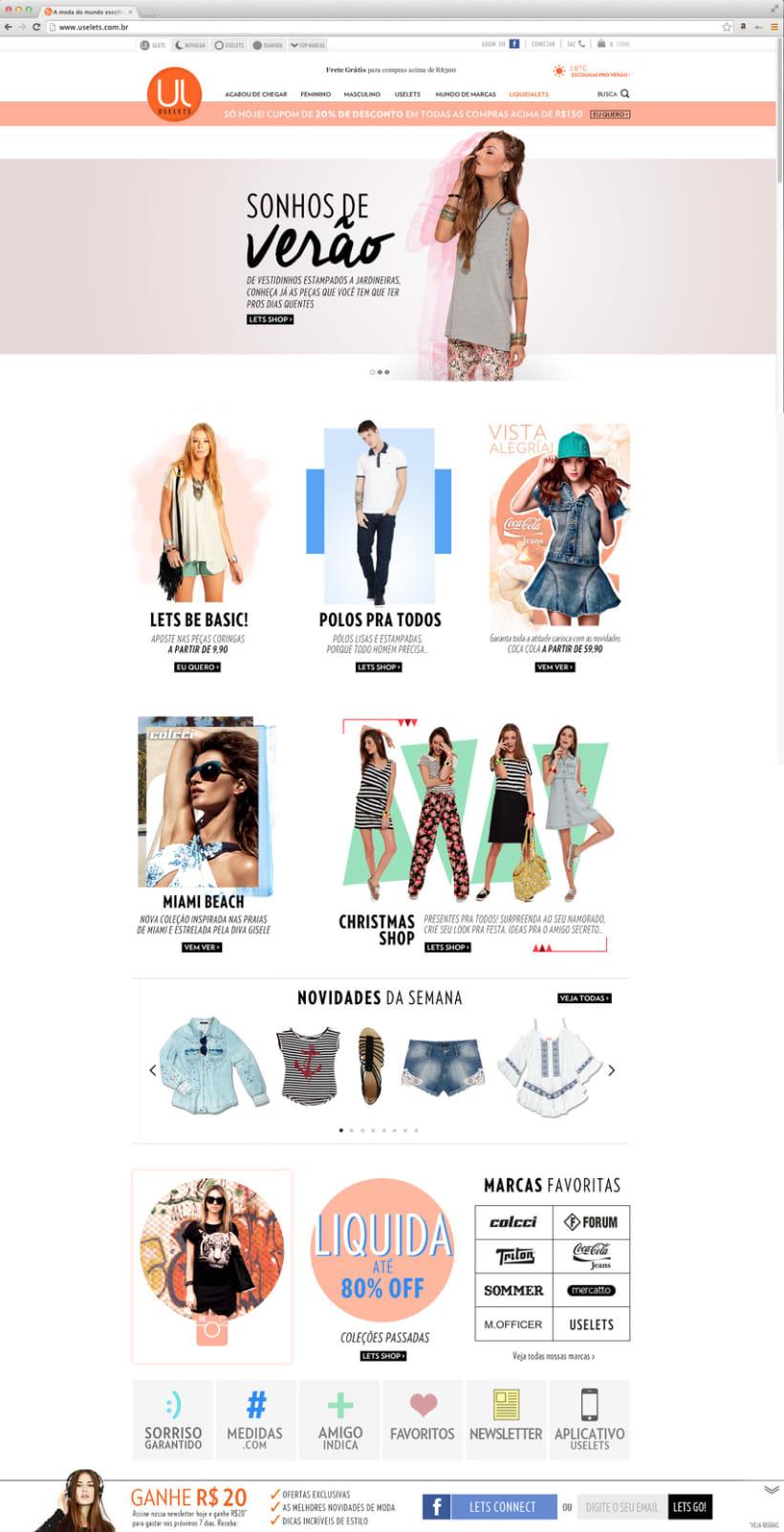 Web Multimarca Uselets Brasil - Tienda online 2015 0