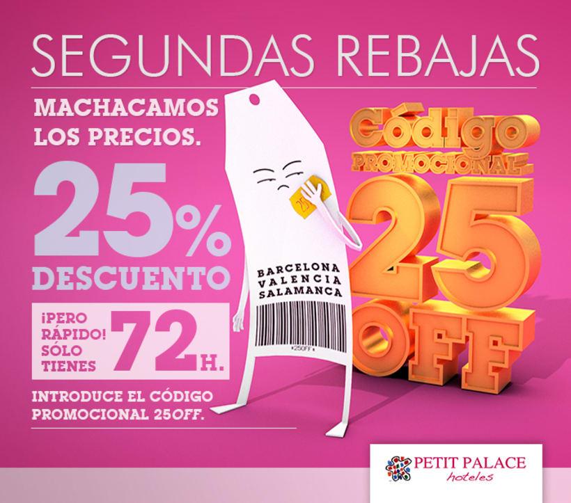 Petit Palace Hoteles - Creatividad Campaña Mailing #3: Segundas Rebajas.  2