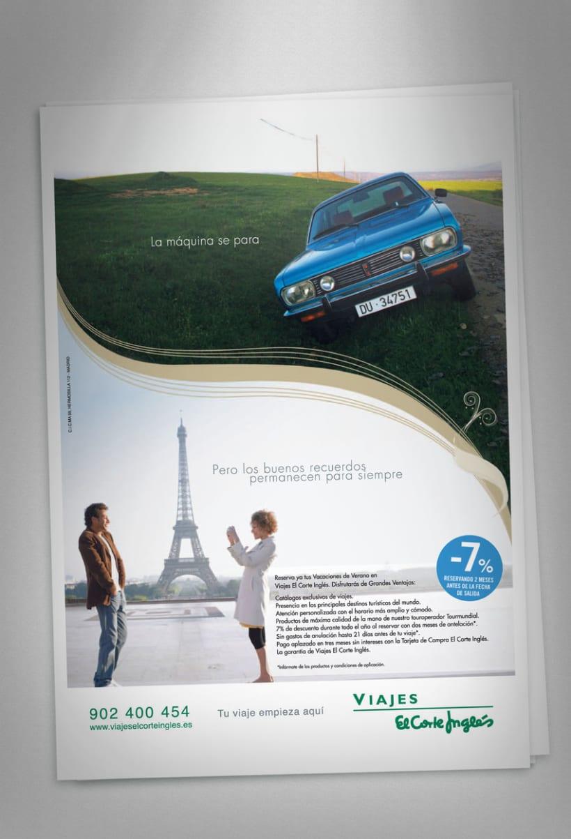 """Viajes El Corte Inglés """"campañas gráficas"""" 2007 2"""