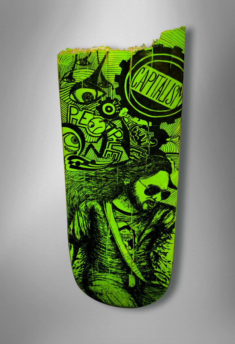 """Crash-Art """"skateboard"""" 5"""