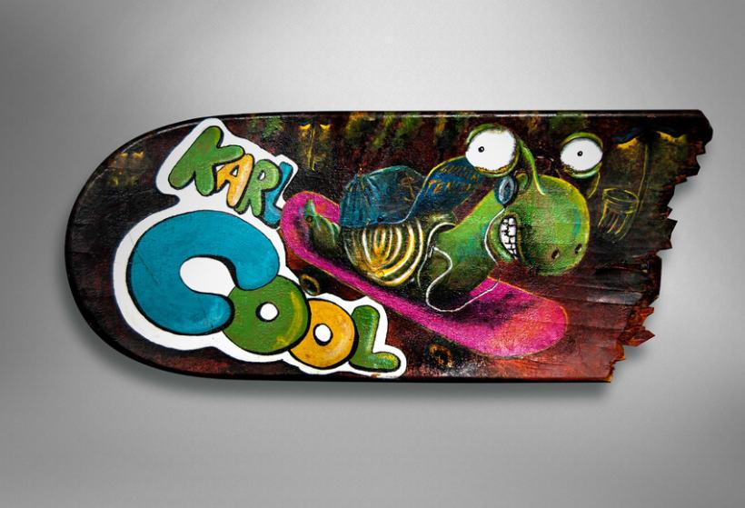 """Crash-Art """"skateboard"""" 6"""