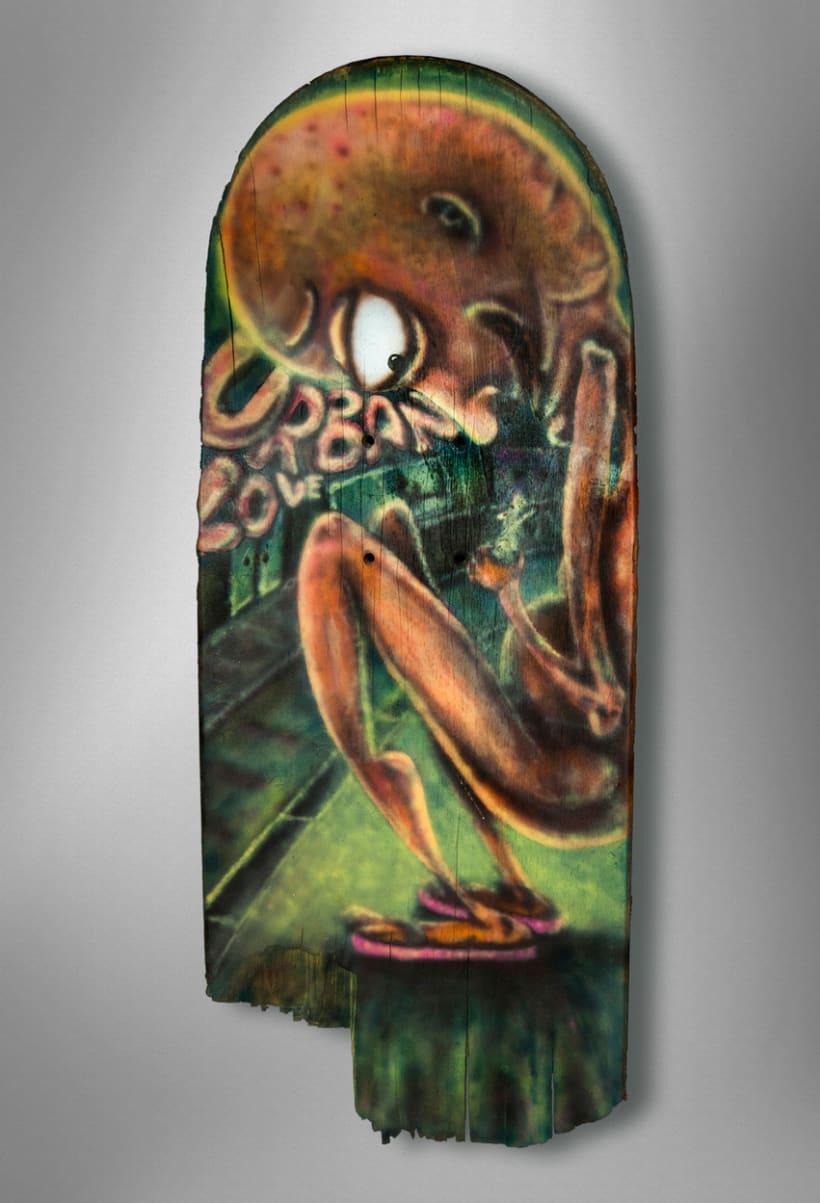 """Crash-Art """"skateboard"""" 9"""