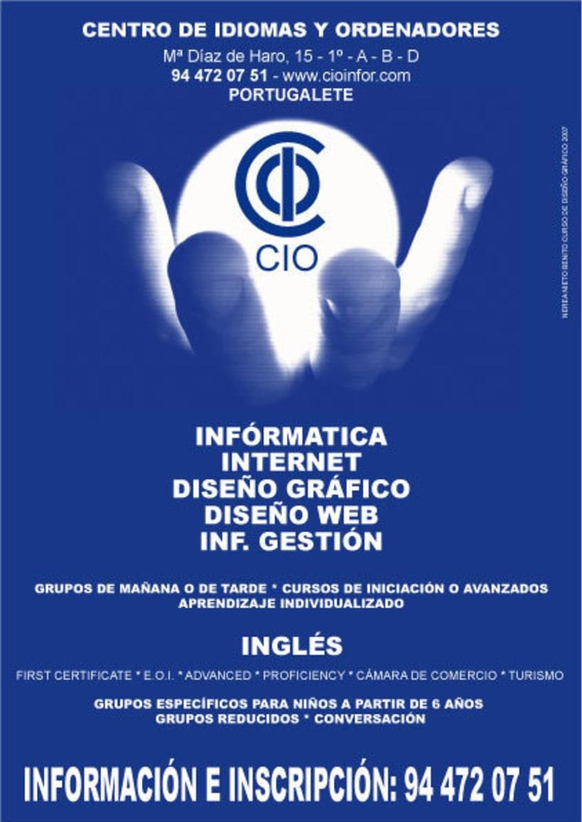 Cartel Publicitario Academia CIO 0