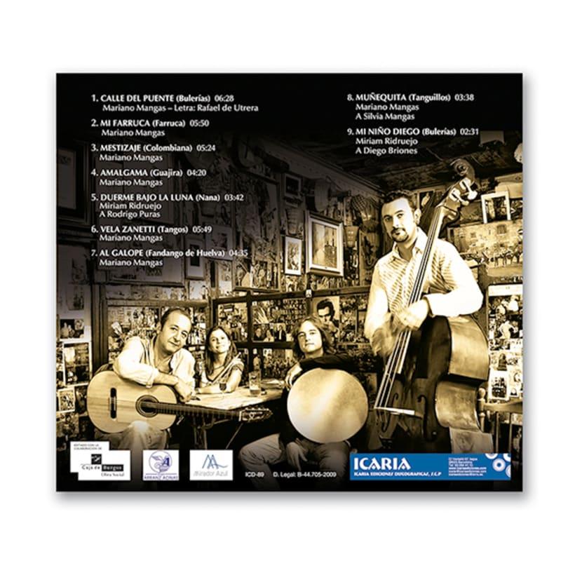Diseño de CD de música flamenco-fusión 2