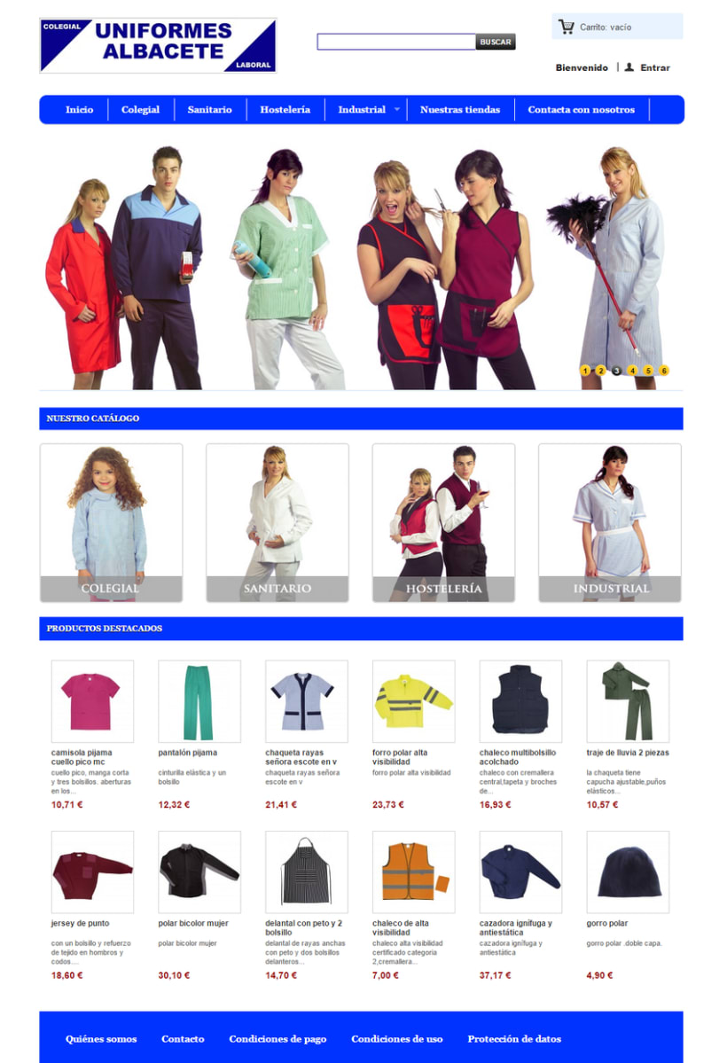 Uniformes Albacete, tienda online 1