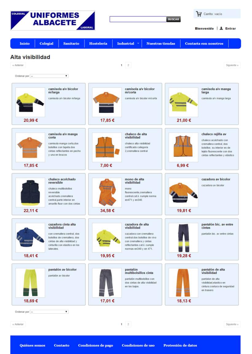 Uniformes Albacete, tienda online 2