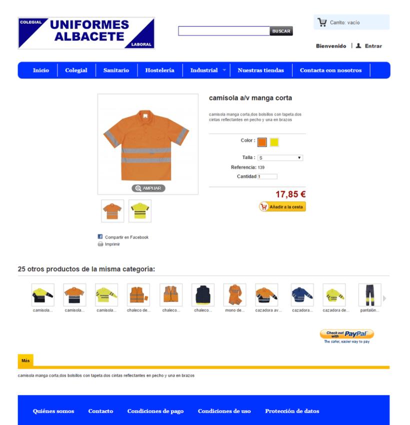 Uniformes Albacete, tienda online 3