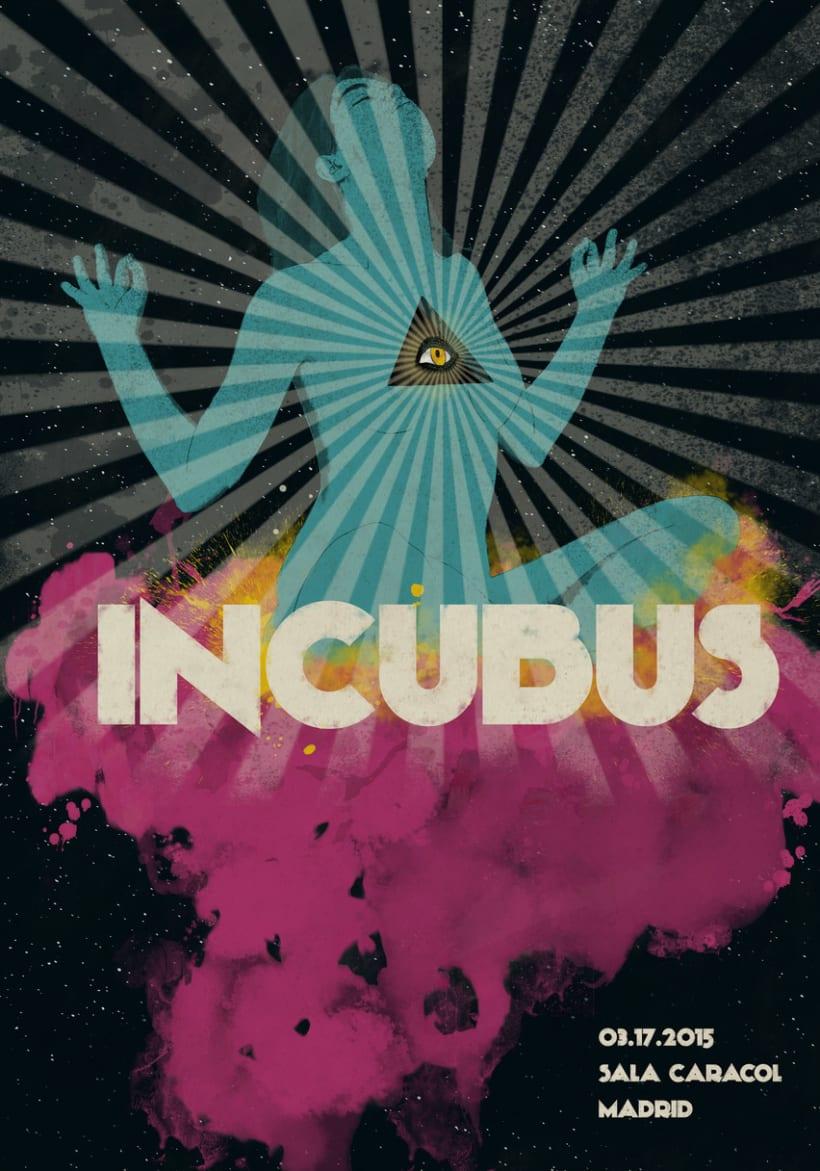 Incubus por Cris Maristany. Mi Proyecto del curso Ilustración para music lovers -1