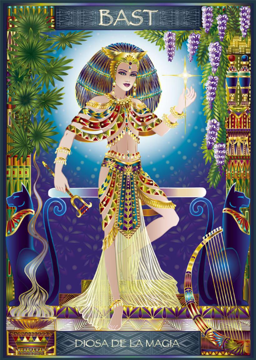 Calendario Diosas de Egipto 2