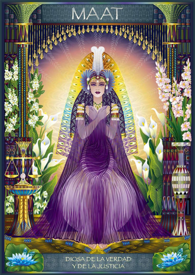 Calendario Diosas de Egipto 8