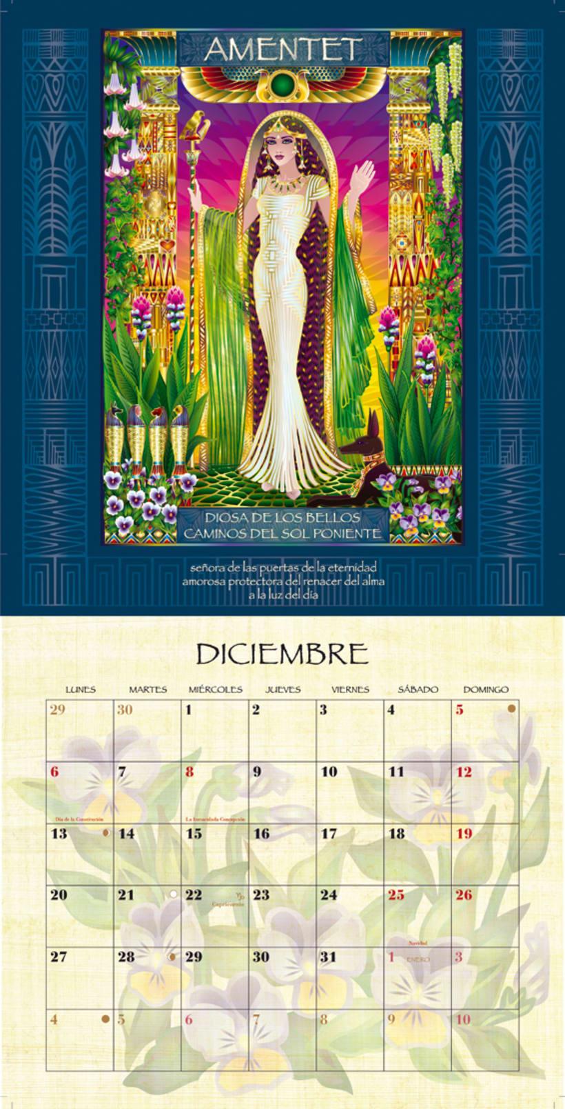 Calendario Diosas de Egipto 10