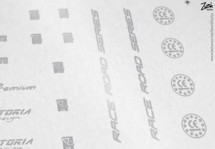 VITORIA BIKES: Diseño de calcas al agua para bicicletas (Arte final). 16