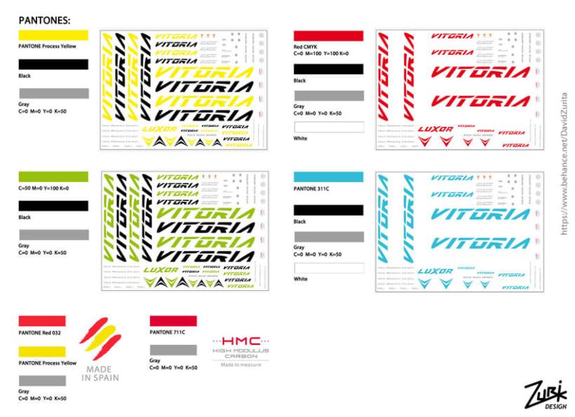 VITORIA BIKES: Diseño de calcas al agua para bicicletas (Arte final). 9