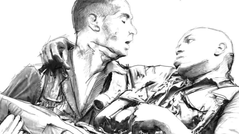 Ilustraciones titulos de crédito (Forrest Gump) -1