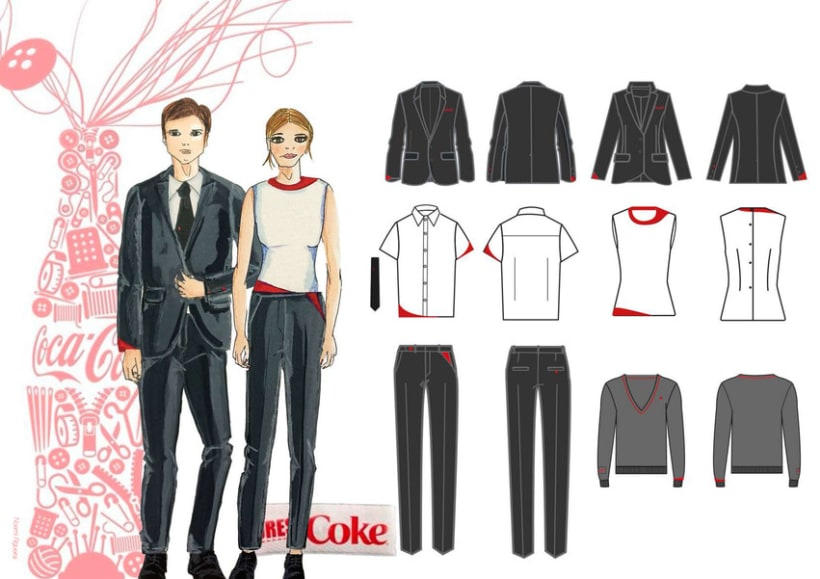 DressCoke. Uniformes comerciales Coca-Cola España 1