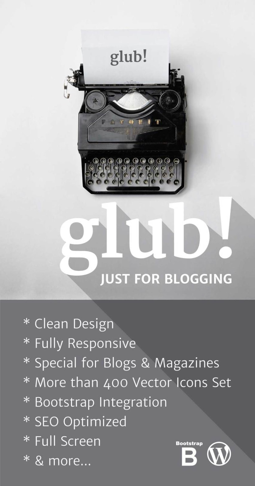 Glub! – Clean & Responsive WordPress Blog Theme 2