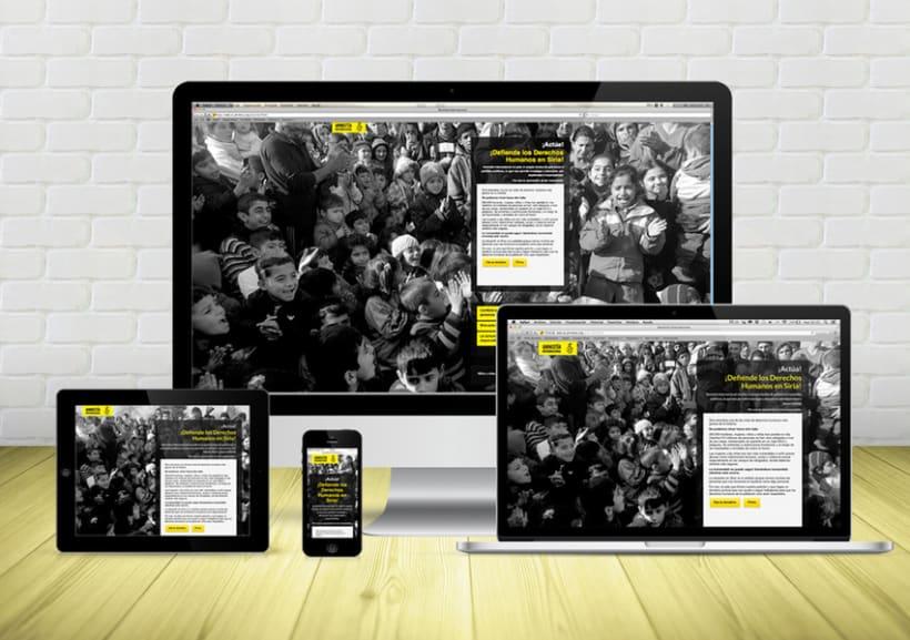 Microsite Donativos - Amnistía Internacional - Ayuda a Siria -1