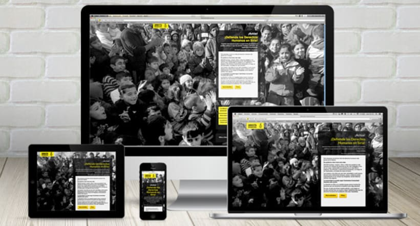 Microsite Donativos - Amnistía Internacional - Ayuda a Siria 0