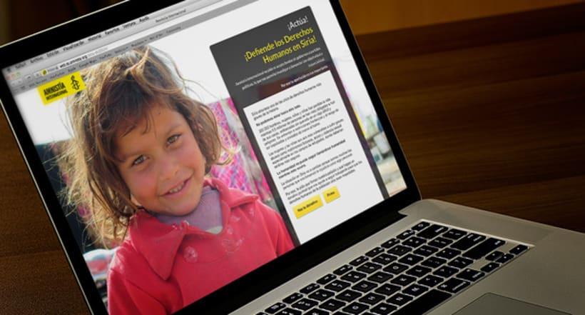 Microsite Donativos - Amnistía Internacional - Ayuda a Siria 1