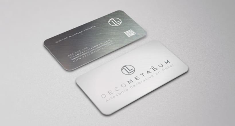 Logotipo, Tarjetas y Sello - Decometallum 0