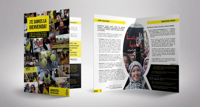 Folleto de Bienvenida de Amnistía Internacional España -1