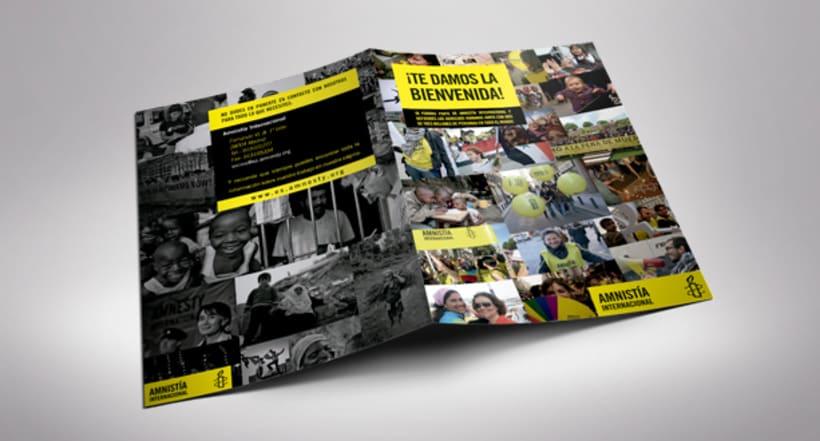 Folleto de Bienvenida de Amnistía Internacional España 0