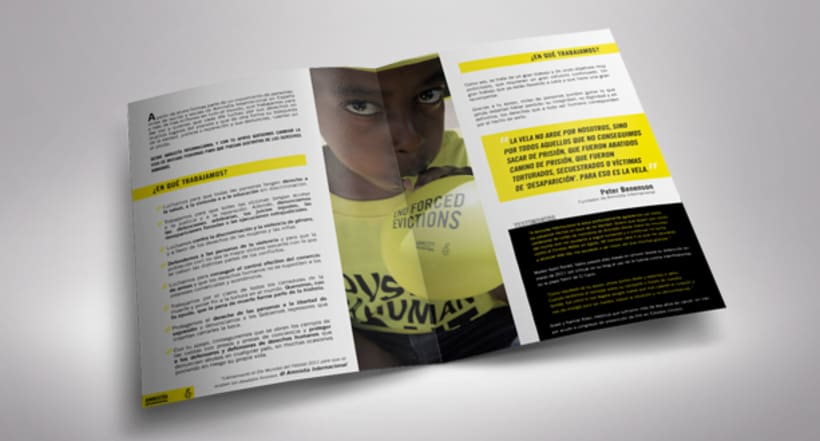 Folleto de Bienvenida de Amnistía Internacional España 1