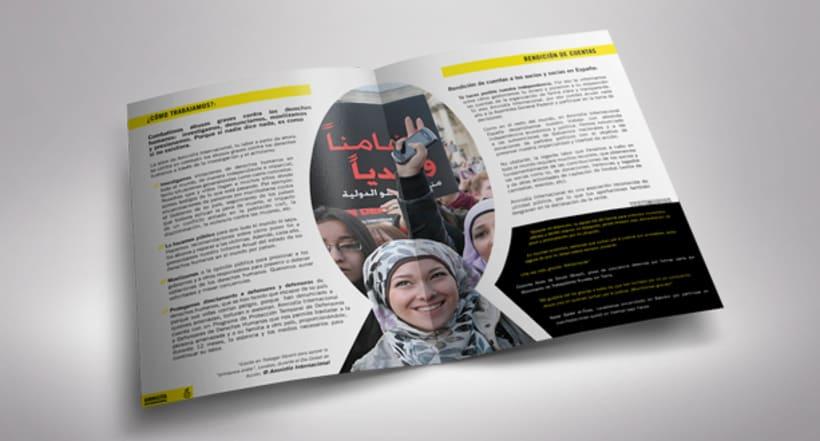 Folleto de Bienvenida de Amnistía Internacional España 2