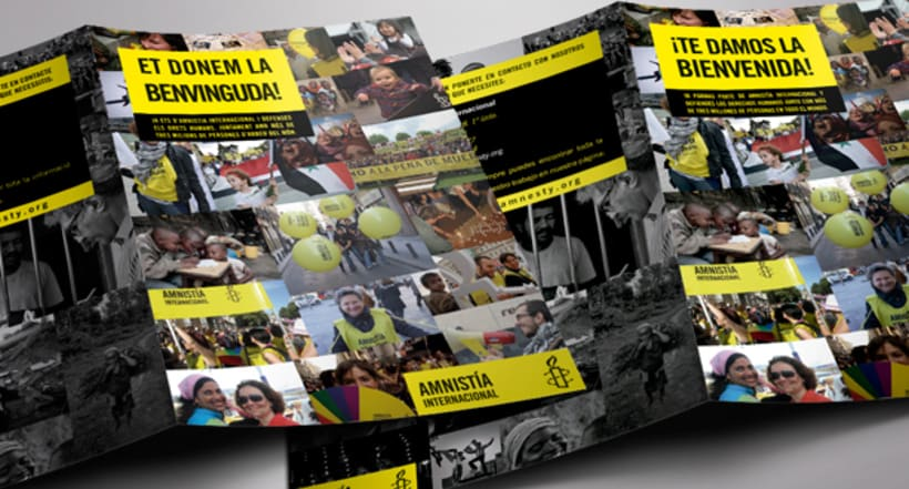 Folleto de Bienvenida de Amnistía Internacional España 4